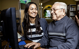 Working in the community with the elderly